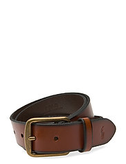 Saddle Leather Dress Belt - SADDLE