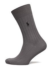Egyptian Cotton Trouser Socks - CHARCOAL HEATHER