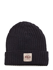 Ribbed Wool-Blend Hat - NAVY