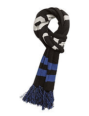 Wool Blend Stadium Scarf - BLACK