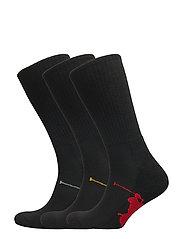 3PK BPP SOLE-SOCKS-3 PACK - 001-BLACK