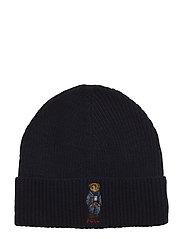 ACRYLIC BLEND-BEAR HAT - HUNTER NAVY