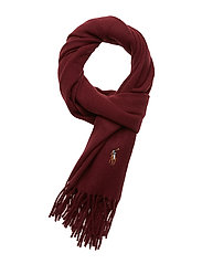 Fringed Wool Scarf - CLASSIC WINE
