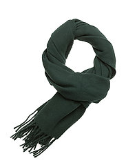 Fringed Wool Scarf - COLLEGE GREEN