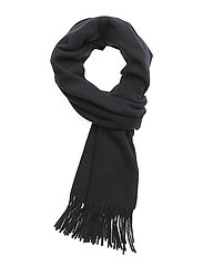 Fringed Wool Scarf - HUNTER NAVY