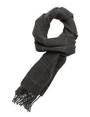 WOOL BLEND-RVB WP SCARF - CHARCOAL HTHR