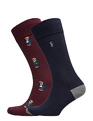 Polo Bear Dress Sock 2-Pack - CLAS WINE/ CRU NA