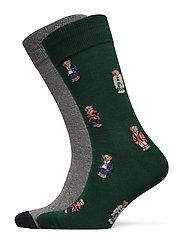 Polo Bear Dress Sock 2-Pack - COL GREEN/ FOST G