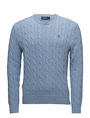 Cable-Knit Cotton Sweater - JAMAICA HEATHER