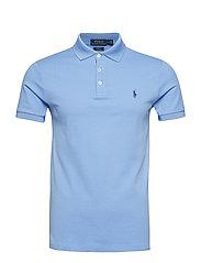 Slim Fit Stretch Mesh Polo - CABANA BLUE