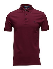 Slim Fit Stretch Mesh Polo - CLASSIC WINE