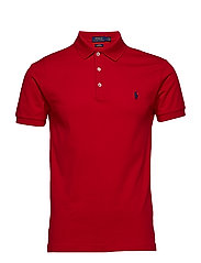 2b93ced7b3dbd Slim Fit Stretch Mesh Polo - CRUISE RED