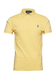 Slim Fit Stretch Mesh Polo - EMPIRE YELLOW