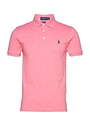 Slim Fit Stretch Mesh Polo - FLORIDA PINK HEAT