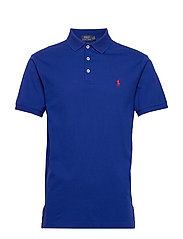 Slim Fit Stretch Mesh Polo - HERITAGE ROYAL/C3