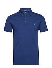 Slim Fit Stretch Mesh Polo - HOLIDAY SAPPHIRE