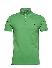Slim Fit Stretch Mesh Polo - TILLER GREEN/C799