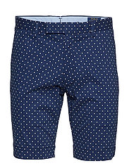 Stretch Slim Fit Chino Short - NEWPORT NAVY W/ D