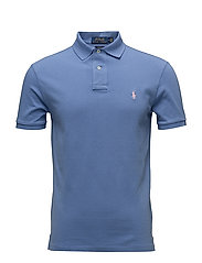 Slim Fit Weather Mesh Polo - CITY BLUE