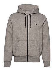 Double-Knit Full-Zip Hoodie - BATTALION HEATHER