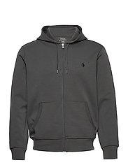 Double-Knit Full-Zip Hoodie - CHARCOAL GREY/C97