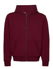 Double-Knit Full-Zip Hoodie - CLASSIC WINE
