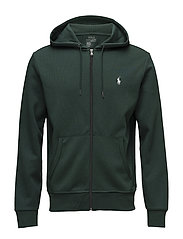 Double-Knit Full-Zip Hoodie - COLLEGE GREEN