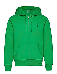 Double-Knit Full-Zip Hoodie - GOLF GREEN