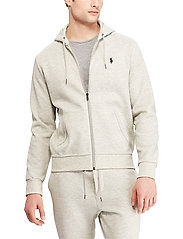 Polo Ralph Lauren - Double-Knit Full-Zip Hoodie - hoodies - lt sport heather - 0