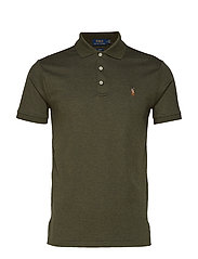 Slim Fit Soft-Touch Polo Shirt - ALPINE HEATHER