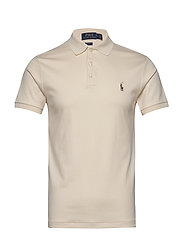 Slim Fit Interlock Polo Shirt - ANDOVER CREAM