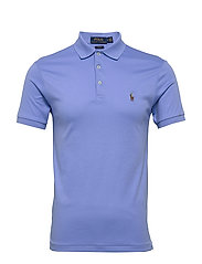 Slim Fit Interlock Polo Shirt - CABANA BLUE