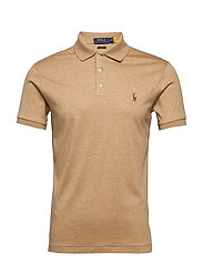 Slim Fit Interlock Polo Shirt - CLASSIC CAMEL HEA