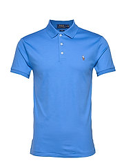 Slim Fit Interlock Polo Shirt - COLBY BLUE