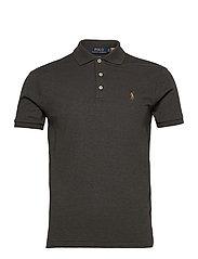 Slim Fit Interlock Polo Shirt - DARK CHARCOAL HEA