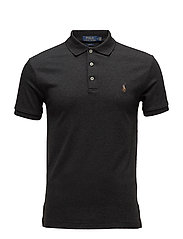 Slim Fit Soft-Touch Polo Shirt - DARK GRANITE HEAT