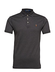 Slim Fit Soft-Touch Polo Shirt - DARK GREY HEATHER