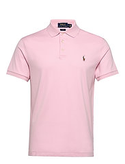 Slim Fit Interlock Polo Shirt - GARDEN PINK
