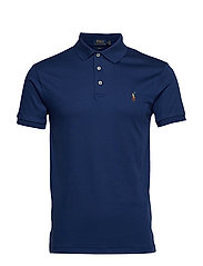 Slim Fit Interlock Polo Shirt - HOLIDAY SAPPHIRE