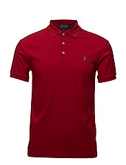Slim Fit Interlock Polo Shirt - PARK AVENUE RED