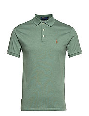 Slim Fit Soft-Touch Polo Shirt - PINE HEATHER