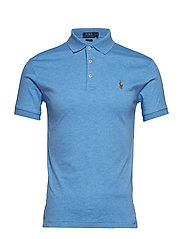 Slim Fit Interlock Polo Shirt - SOFT ROYAL HEATHE
