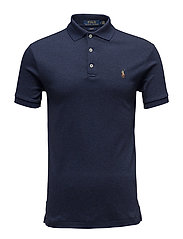 Slim Fit Interlock Polo Shirt - SPRING NAVY HEATH