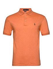 Slim Fit Soft-Touch Polo Shirt - TRUE ORANGE HEATH