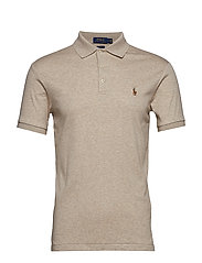Slim Fit Soft-Touch Polo Shirt - TUSCAN BEIGE HEAT