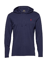 Cotton Jersey Hooded T-Shirt - NEWPORT NAVY