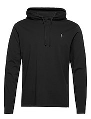 Cotton Jersey Hooded T-Shirt - POLO BLACK