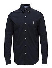 Classic Fit Cotton Mesh Shirt - AVIATOR NAVY