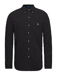 Featherweight Mesh Shirt - BLACK MARL HEATHE