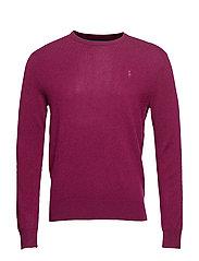 Merino Wool Crewneck Sweater - CLASSIC BURGUNDY